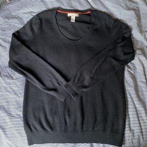 Banana Republic cotton blend long sleeve sweater